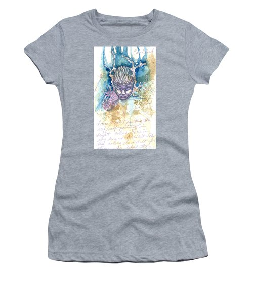 Women's T-Shirt featuring the painting Coral Head by Ashley Kujan