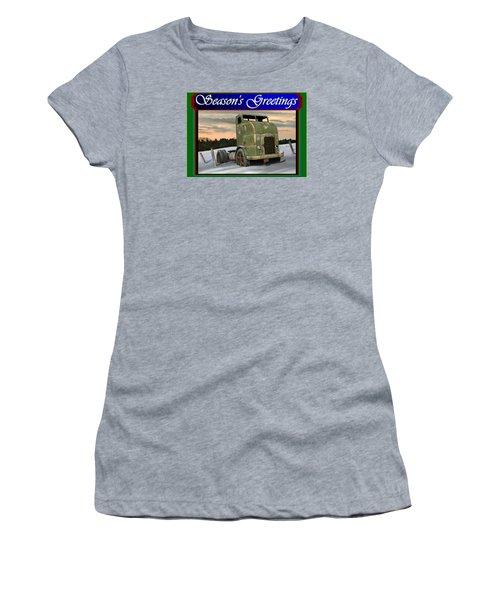 Women's T-Shirt (Junior Cut) featuring the digital art Corbitt Christmas Card by Stuart Swartz
