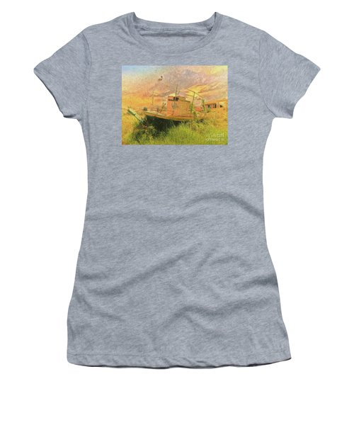 Women's T-Shirt featuring the photograph Corfu 25 High And Dry by Leigh Kemp