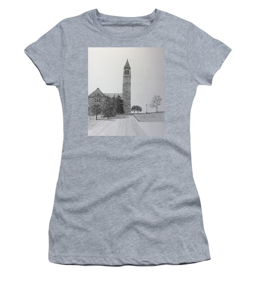Cornell Clock Tower  Women's T-Shirt (Athletic Fit)