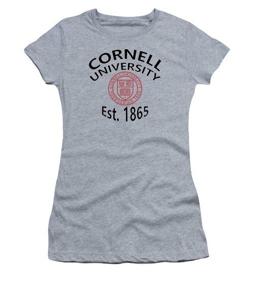 Cornell University Est 1865 Women's T-Shirt (Athletic Fit)