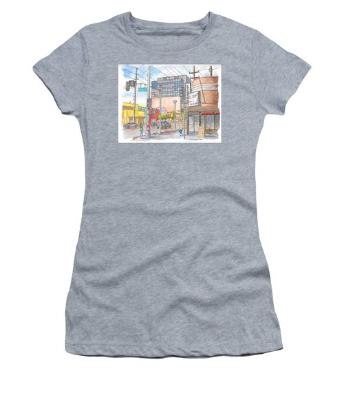 Corner 3rd St. And Orlando, Los Angeles, Ca Women's T-Shirt
