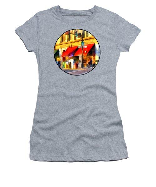 Corner Of Center And Merchant Rutland Vt Women's T-Shirt