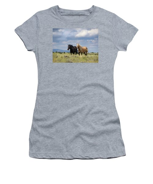 Women's T-Shirt (Athletic Fit) featuring the photograph Corona And Em Of Sand Wash Basin by Nadja Rider