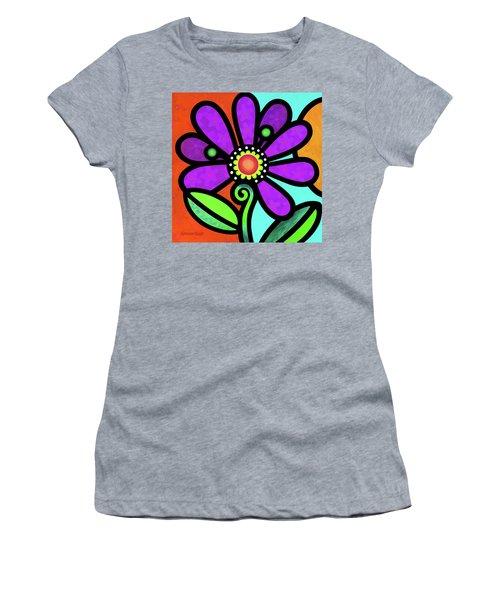 Cosmic Daisy In Purple Women's T-Shirt