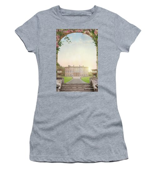 Country Mansion At Sunset Women's T-Shirt (Junior Cut) by Lee Avison