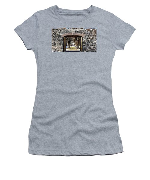 Women's T-Shirt (Junior Cut) featuring the photograph Cove Fort, Utah by Cynthia Powell