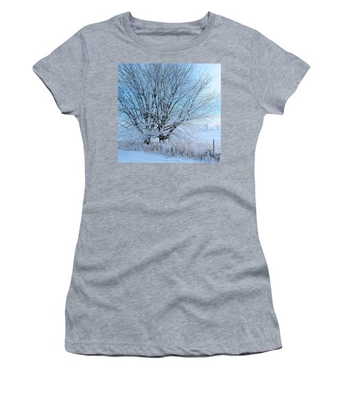 Women's T-Shirt (Junior Cut) featuring the photograph Covered In Ice by Heather King