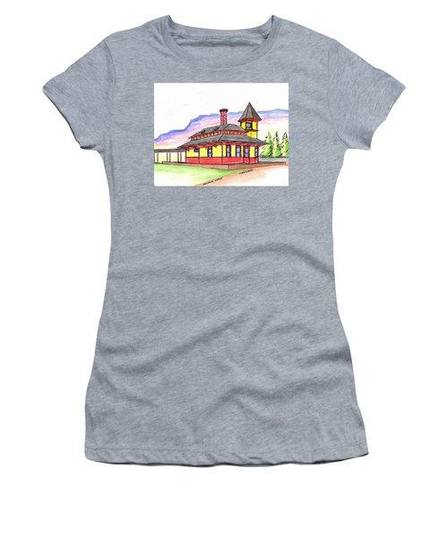 Crawford Notch Train Station Women's T-Shirt (Junior Cut) by Paul Meinerth