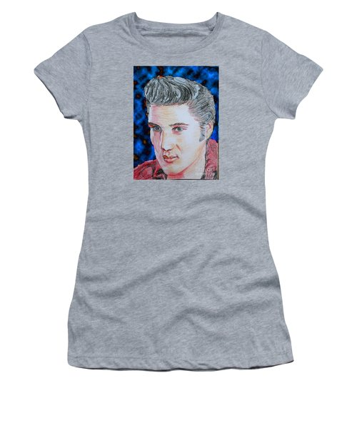 Crayon Elvis Women's T-Shirt (Junior Cut) by Lyric Lucas