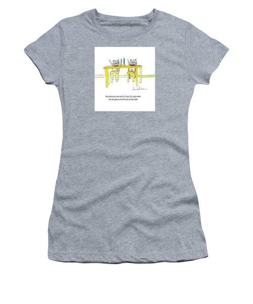 Crazy Cat Lady 0007 Women's T-Shirt (Junior Cut) by Lou Belcher