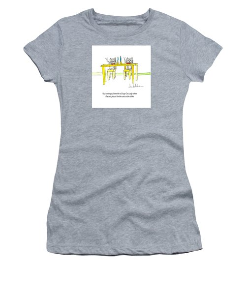 Crazy Cat Lady 0007 Women's T-Shirt (Athletic Fit)