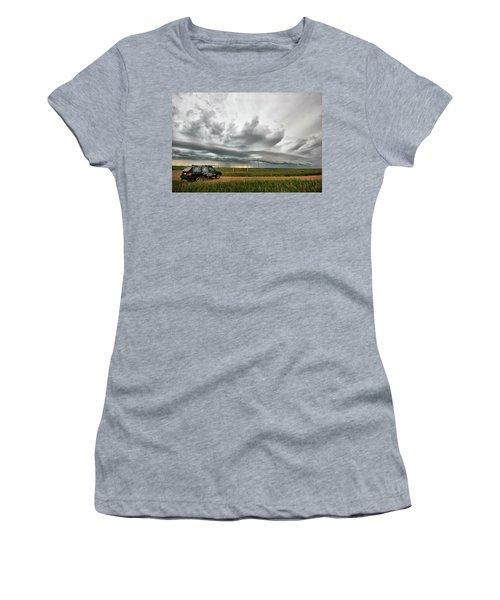 Crazy Shelf Cloud Near Ponteix Sk. Women's T-Shirt