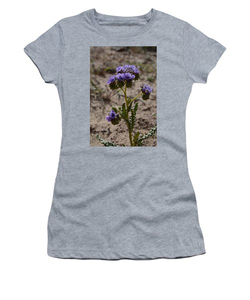 Crenulate Phacelia Flower Women's T-Shirt (Junior Cut) by Jenessa Rahn