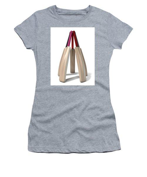 Cricket Bat Circle Women's T-Shirt (Junior Cut) by Allan Swart