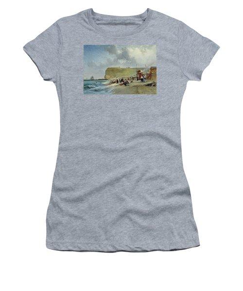 Crinolines On The Beach At Fecamp Women's T-Shirt