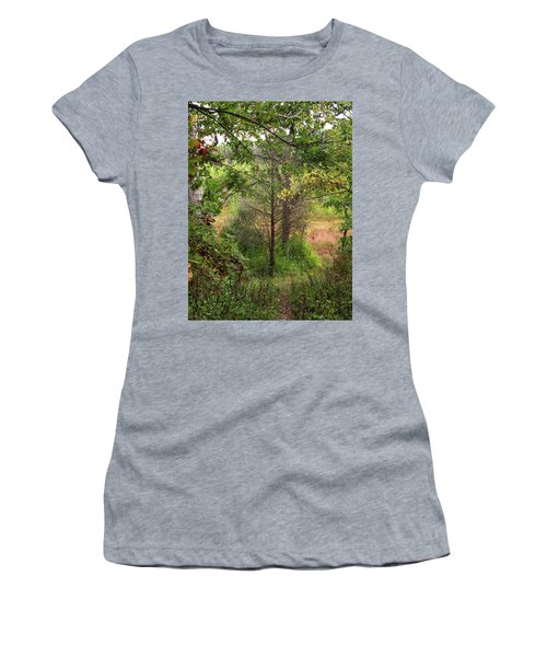 Crooked Creek Woods Women's T-Shirt (Athletic Fit)