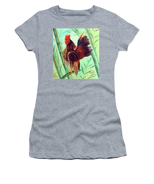 Crown Of The Serama Chicken Women's T-Shirt (Junior Cut) by Ragunath Venkatraman
