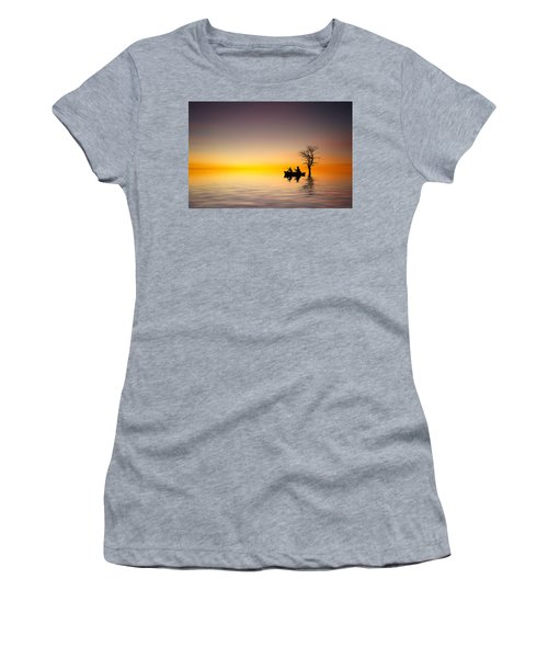 Women's T-Shirt (Junior Cut) featuring the pyrography Cruise by Bess Hamiti