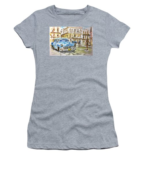 Cuba Today Or 1950 ? Women's T-Shirt (Athletic Fit)