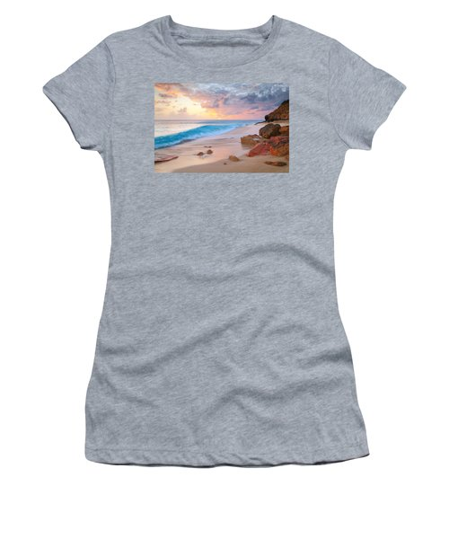 Cupecoy Beach Sunset Saint Maarten Women's T-Shirt (Athletic Fit)