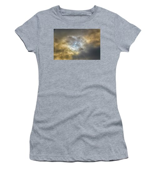 Curtain Of Clouds Eclipse Women's T-Shirt (Athletic Fit)