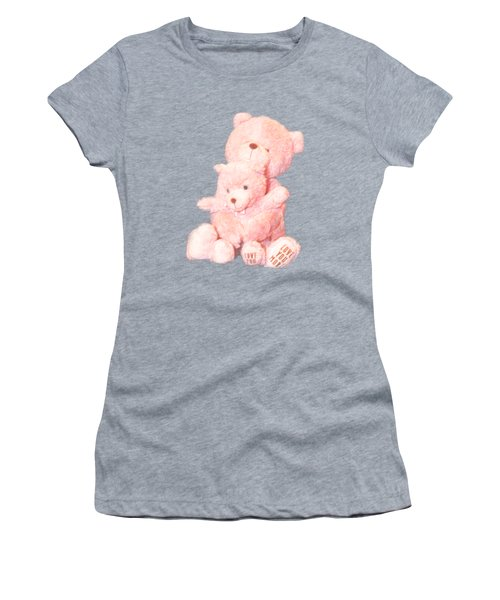 Cutout Hugging Bears Women's T-Shirt (Athletic Fit)