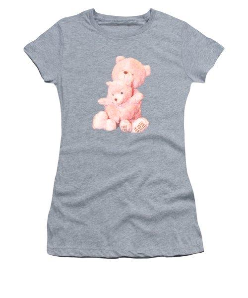 Cutout Hugging Bears Women's T-Shirt (Athletic Fit)
