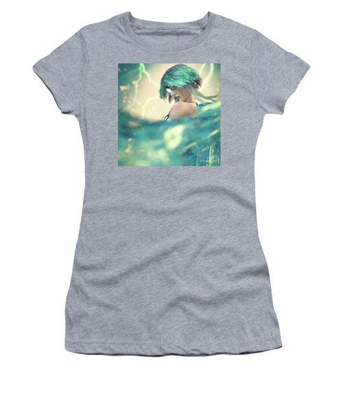 Cyan Women's T-Shirt