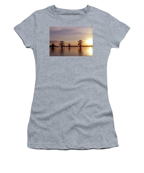 Cypress Sunset Women's T-Shirt (Athletic Fit)