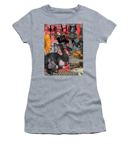 Women's T-Shirt (Athletic Fit) featuring the digital art Dada Dodos by Nola Lee Kelsey