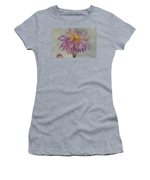 Women's T-Shirt (Junior Cut) featuring the painting Dahlia At Eastport Me by Donna Walsh
