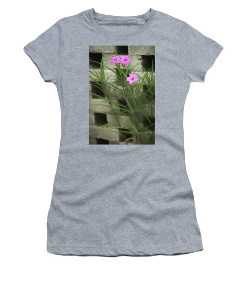 Women's T-Shirt featuring the photograph Dainty Pink by Penny Lisowski
