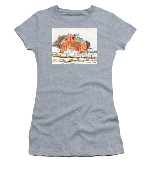 Dairy Barn Women's T-Shirt (Junior Cut) by R Kyllo