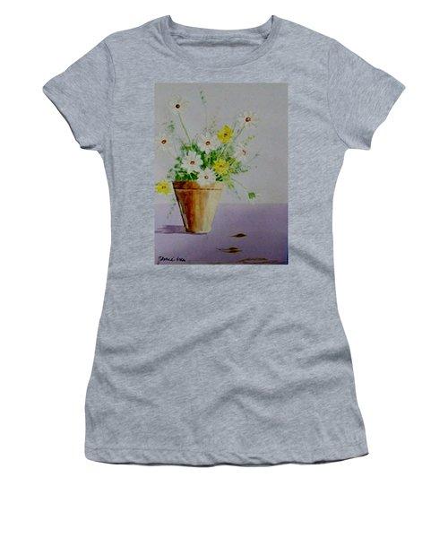 Daisies In Pot Women's T-Shirt (Junior Cut) by Jamie Frier