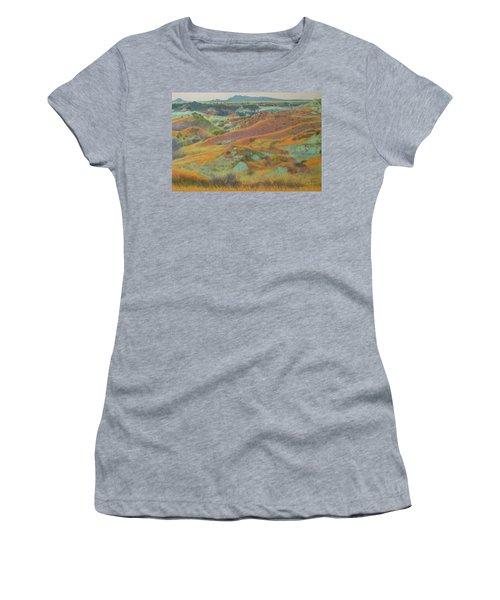 Women's T-Shirt featuring the pastel Dakota October by Cris Fulton