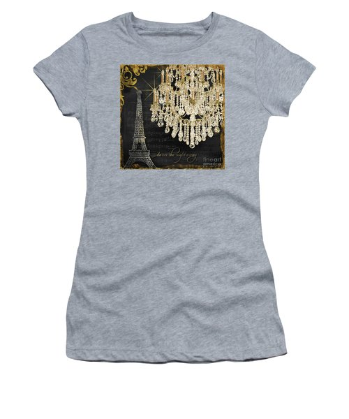 Women's T-Shirt (Athletic Fit) featuring the mixed media Dance The Night Away 1 by Audrey Jeanne Roberts