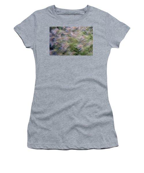 Dancing Foxtail Grass Women's T-Shirt (Athletic Fit)