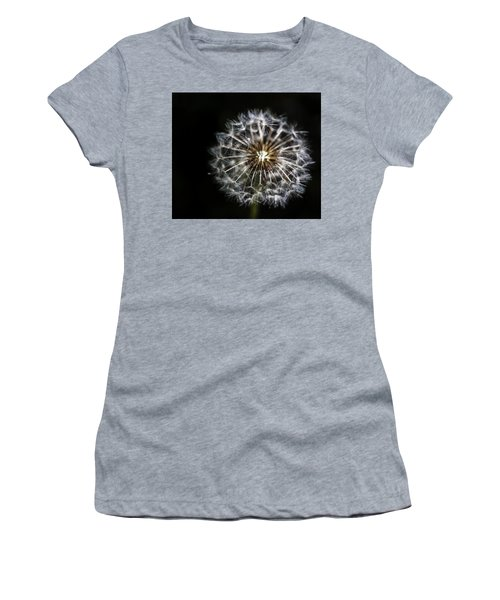 Women's T-Shirt (Junior Cut) featuring the photograph Dandelion Seed by Darcy Michaelchuk