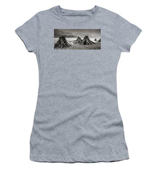 Dark Lake Women's T-Shirt (Junior Cut) by Marius Sipa