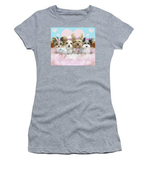 Davidson's Furbabies Women's T-Shirt (Junior Cut) by Catia Cho