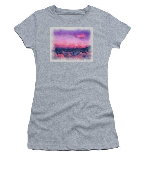Dawn In Taos In Aquarelle Women's T-Shirt