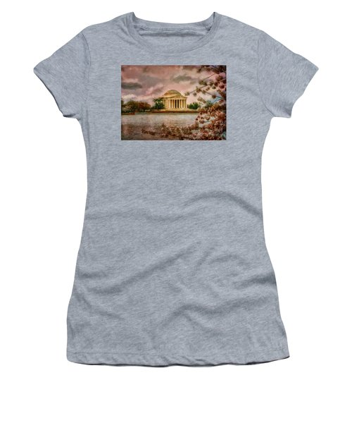 Dawn Over The Jefferson Memorial Women's T-Shirt (Athletic Fit)