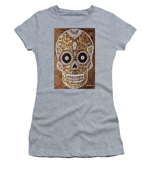 Women's T-Shirt (Junior Cut) featuring the painting Day Of Death by J- J- Espinoza