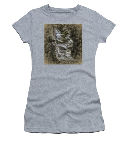 Women's T-Shirt (Junior Cut) featuring the photograph Dead Leaf by Vladimir Kholostykh