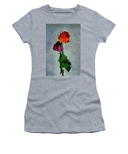 Dead Roses Women's T-Shirt (Junior Cut) by Francesa Miller