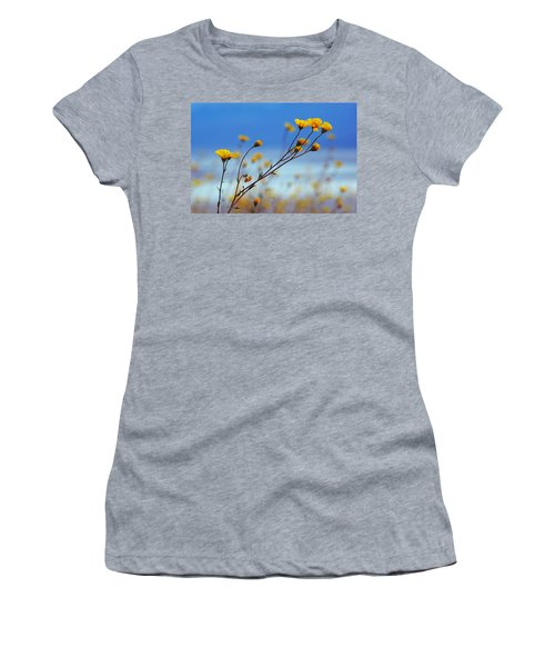 Women's T-Shirt (Junior Cut) featuring the photograph Death Valley Superbloom 502 by Daniel Woodrum