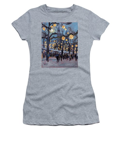 December Lights At The Our Lady Square Maastricht 1 Women's T-Shirt (Junior Cut) by Nop Briex