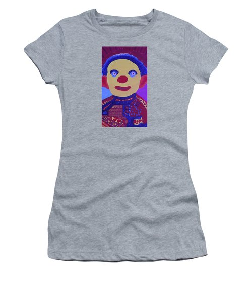 Women's T-Shirt (Junior Cut) featuring the painting Demented Clownboy by Don Koester