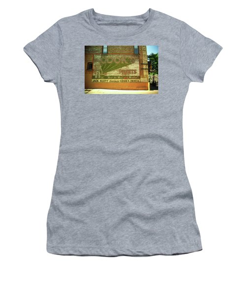 Women's T-Shirt (Junior Cut) featuring the photograph Denver Ghost Mural by Frank Romeo